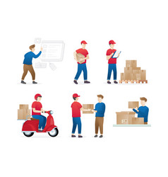set service delivery vector image