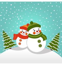 Snowmans vector