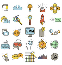 Social media marketing icons vector