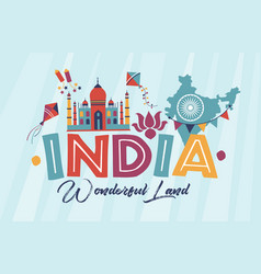 Travel india panorama vector