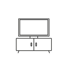 Tv stand icon vector