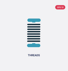 Two color threads icon from sew concept isolated vector