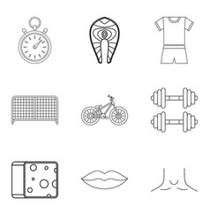 Undergo treatment icons set outline style vector