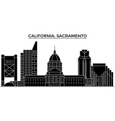 Usa california sacramento architecture vector
