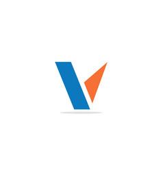 v initial shape company logo vector image