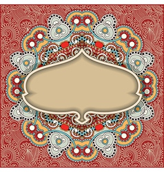 vintage template in floral background vector image vector image