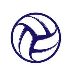 Volleyball blue symbol vector