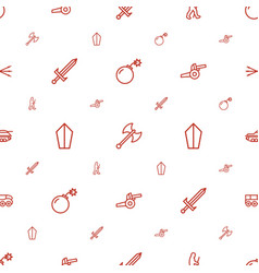 Weapon icons pattern seamless white background vector
