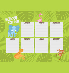 Weekly planner template cute calendar diary vector