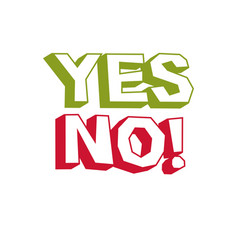 yes no checkmark voting sign choice metaphor vector image