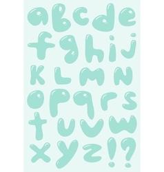 Blue bubble shaped lower case alphabet vector image