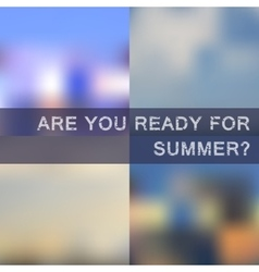 Blurred summer backgrounds set vector