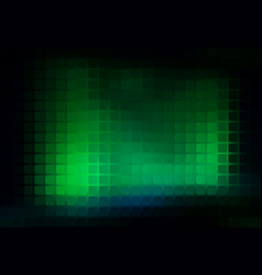 Glowing neon green abstract rounded mosaic vector