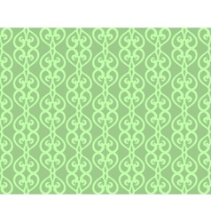 Green Vintage Forged Lacing Seamless pattern vector image vector image