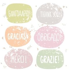 thanks labels vector image vector image