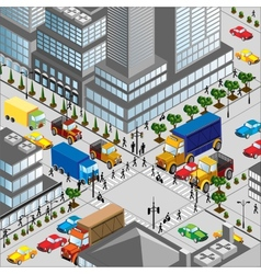 Crossing of city vector image