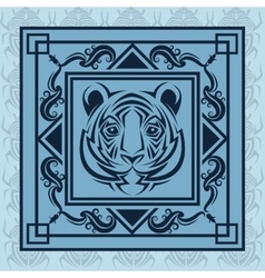 tiger tattoo animal design vector image