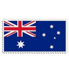 Australian flag stamp vector image vector image