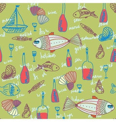 seafood wallpaper vector image vector image