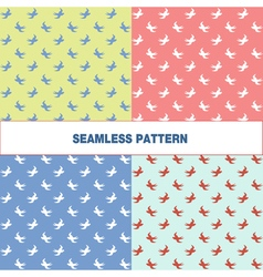 Seamless pattern with swallow vector