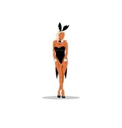 Sexy bunny girl vector image vector image