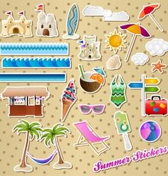 Summer stickers vector