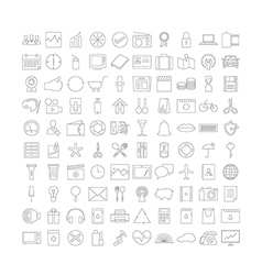 Thin line Icons v2 vector image vector image