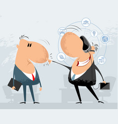 two funny businessmen vector image