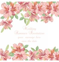 Vintage Spring Summer delicate Flowers card vector image