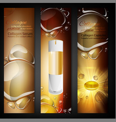 cosmetic portrait banners vector image vector image