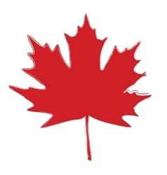 Grunge Brushed Leaf vector image vector image