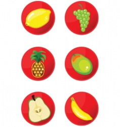 icons fruits vector image vector image