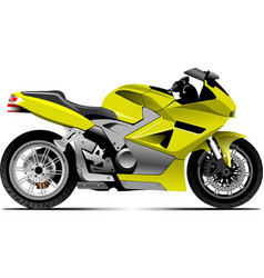 sketch of modern motorcycle vector image vector image