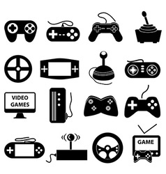 Video games icons set vector image vector image