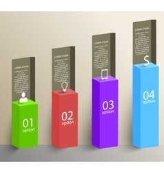 3d chart infographic elements vector