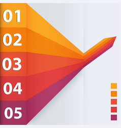 abstract business steps vector image