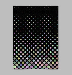 Abstract dot pattern brochure template - document vector