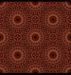 Abstract geometrical brown seamless floral vector