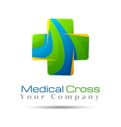 Abstract medical hospital logo template design for vector image vector image