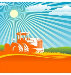 agricultural background vector image