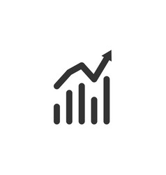 analytics icon design template isolated vector image