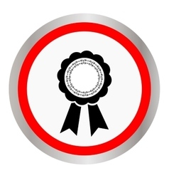 Award ribbon icon Flat design style vector image