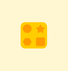 baby toy icon flat element of vector image