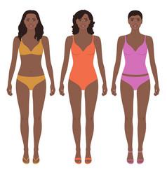 Beautiful african american women vector