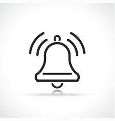 Bell notification or alert icon vector