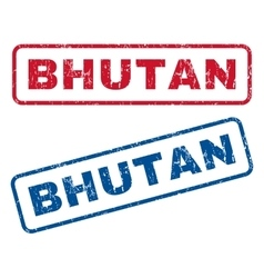 Bhutan Rubber Stamps vector