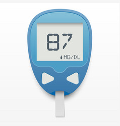 blood glucose meter concept vector image