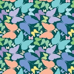 butterflies seamless vector image