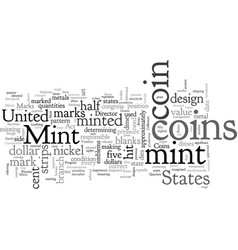 Bwcc what are remints and mint marks vector