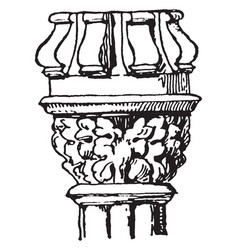 Capital decorations vintage engraving vector